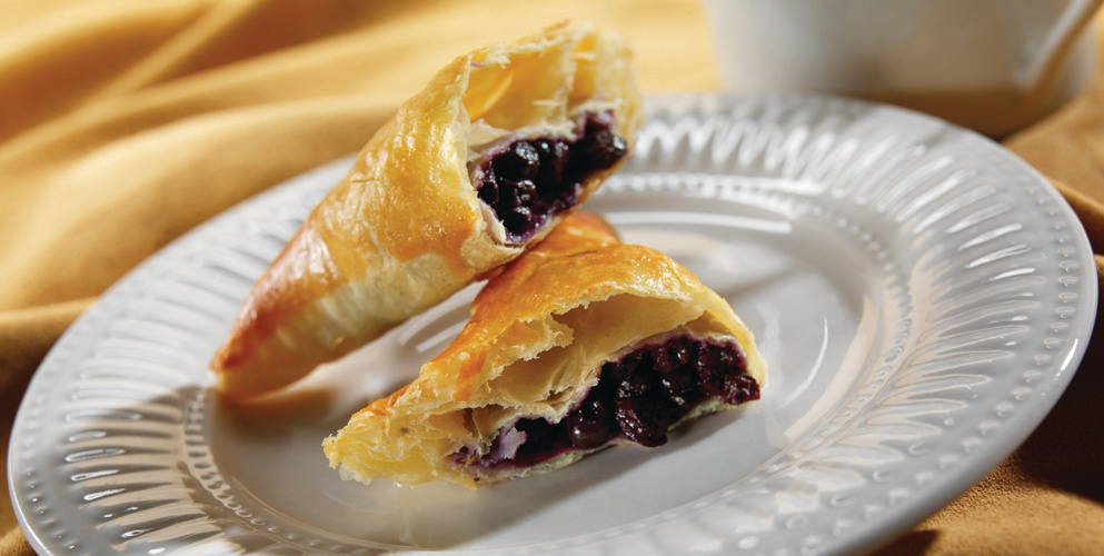 Blueberry Turnover on Plate