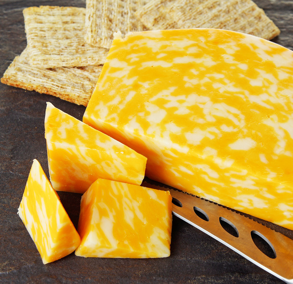 Colby Jack Cheese with Woven Crackers – Prepared Food Photos