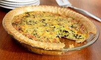 Fresh Made Spinach Quiche