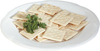 Salted Crackers on Plate